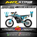 Stiker motor decal YZ 250 New Sky Blue