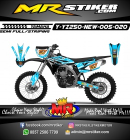 Stiker motor decal YZ 250 New Sky Blue