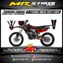 Stiker motor decal YZ 250 New DarkRed Fox Carbon