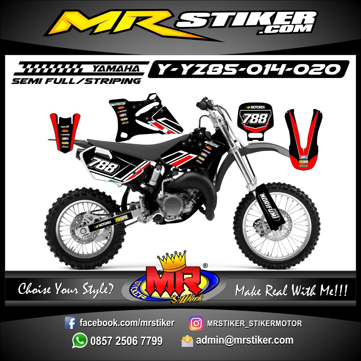 Stiker motor decal YZ 85 Strip Red Dark