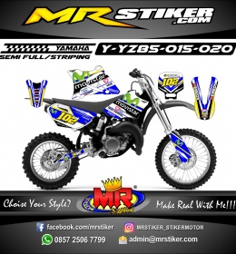 Stiker motor decal YZ 85 Movistar Racing