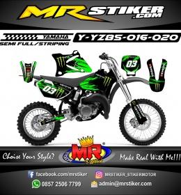 Stiker motor decal YZ 85 Splater Monster Energy