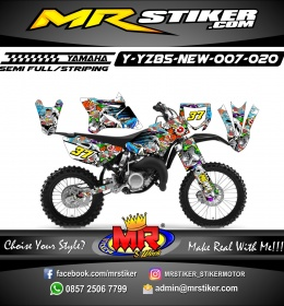Stiker motor decal YZ 85 New All Monster