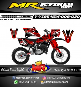 Stiker motor decal YZ 85 New Red Blood Track