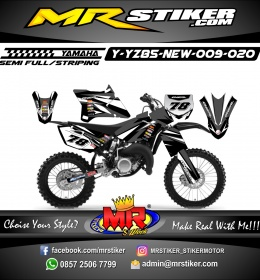 Stiker motor decal YZ 85 New Oneal Gray Black