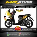 Stiker motor decal Honda Beat Flowing on the wall