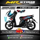 Stiker motor decal Honda Beat Grafis Scratched Crush