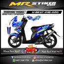 Stiker motor decal Honda Beat Blue Camo
