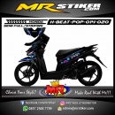 Stiker motor decal Honda Beat Pop Neon Street