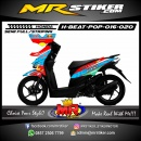 Stiker motor decal Honda Beat Pop Camo Redbull Racing