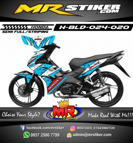 Stiker motor decal Honda Blade Ice Blue Sky Crush