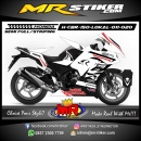 Stiker motor decal Honda CBR 150 Lokal White Shark Carbon