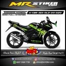 Stiker motor decal Honda CBR 150 Old Green Monster Energy
