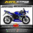 Stiker motor decal Honda CBR 150 Old Blue Dark Via via via Shark