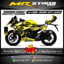 Stiker motor decal Honda CBR 150 New DCshoes Carbon Abstrak
