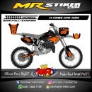 Stiker motor decal Honda CR 85 Orange Black Race