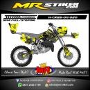 Stiker motor decal Honda CR 85 Splat Yellow Rockstar
