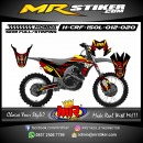 Stiker motor decal HONDA CRF 150 L Red Shark