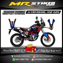 Stiker motor decal HONDA CRF 250 Rally Blue Grafis Splater