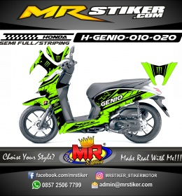 Stiker motor decal HONDA Genio Splat Monster Energy