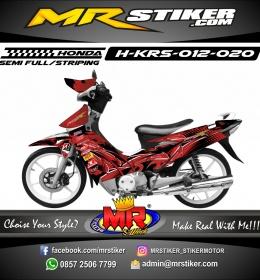 Stiker motor decal Honda Karisma Grafis 3D Red Maron