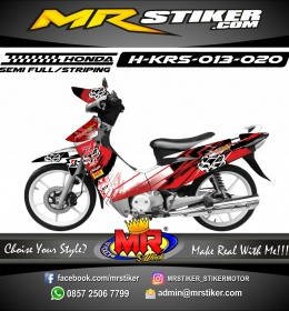 Stiker motor decal Honda Karisma Fox Splater