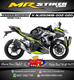 Stiker motor decal Kawasaki Ninja 2018 All New Dark Wolf