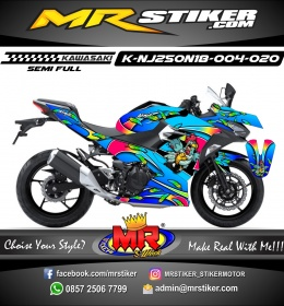 Stiker motor decal Kawasaki Ninja 2018 All New Quill Airbrush