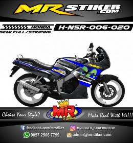 Stiker motor decal Honda NSR Blue Movistar