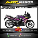 Stiker motor decal Honda NSR Purple Gradation AirBrush