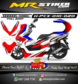 Stiker motor decal Honda PCX 150 StarLine Red Blue (FullBody)