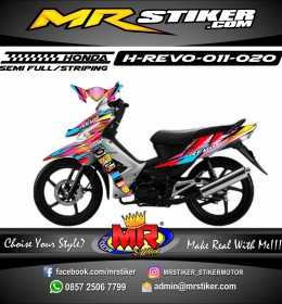 Stiker motor decal Honda Revo ColorFull Grafis