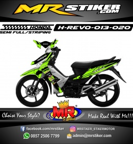 Stiker motor decal Honda Revo Green Highlighter Honda Grafis