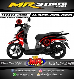 Stiker motor decal Honda Scoopy Line Brush Scoopy
