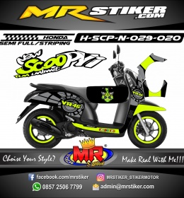 Stiker motor decal Honda Scoopy New VR 46 SunMoon
