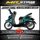 Stiker motor decal Honda Scoopy New 2017 Grafis Special Edition Ice Blue