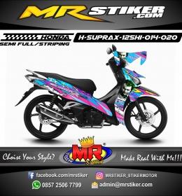 Stiker motor decal Honda Supra X 125 HI Joker Airbrush