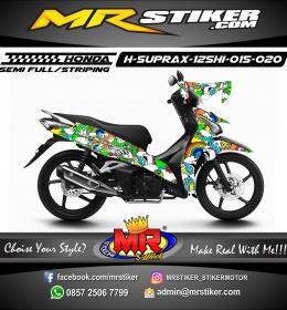 Stiker motor decal Honda Supra X 125 HI Doodle Full