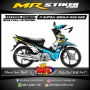 Stiker motor decal Honda Supra X 125 OLD Blue Thor