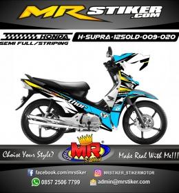 Stiker motor decal Honda Supra X 125 OLD Blue Thor