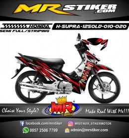 Stiker motor decal Honda Supra X 125 OLD Red Splat