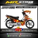 Stiker motor decal Honda Supra X 125 OLD Red Bull Orange