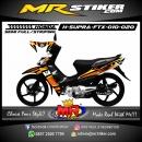 Stiker motor decal Honda Supra Fit X Orange Gradation FckMickeyMouse
