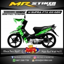 Stiker motor decal Honda Supra Fit X Green Light
