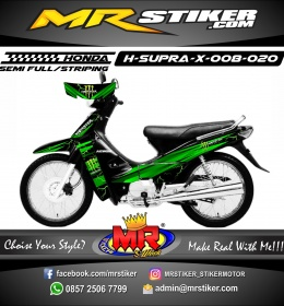 Stiker motor decal Honda Supra X Monster Energy Dark Green