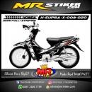 Stiker motor decal Honda Supra X Black White SunMoon