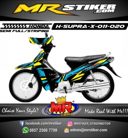 Stiker motor decal Honda Supra X Blue ion