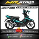 Stiker motor decal Honda Supra X 125 Dark Blue Ice