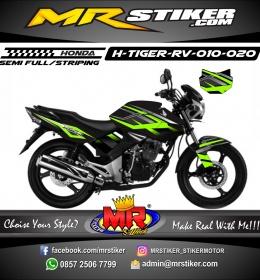 Stiker motor decal Honda Tiger Revo Green Line Carbon