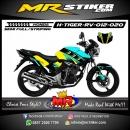 Stiker motor decal Honda Tiger Revo DarkBlue Street